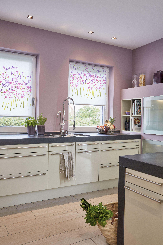 dekor rollo monet summer ohne bohren k che pinterest. Black Bedroom Furniture Sets. Home Design Ideas