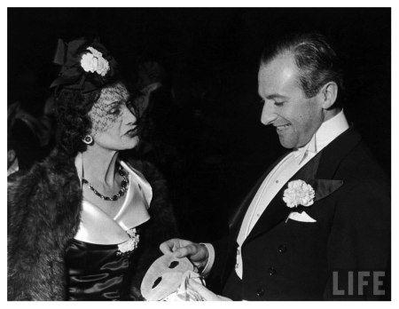 Fashion designer Gabrielle (Coco) Chanel w. photographer Cecil Beaton-ca 1937