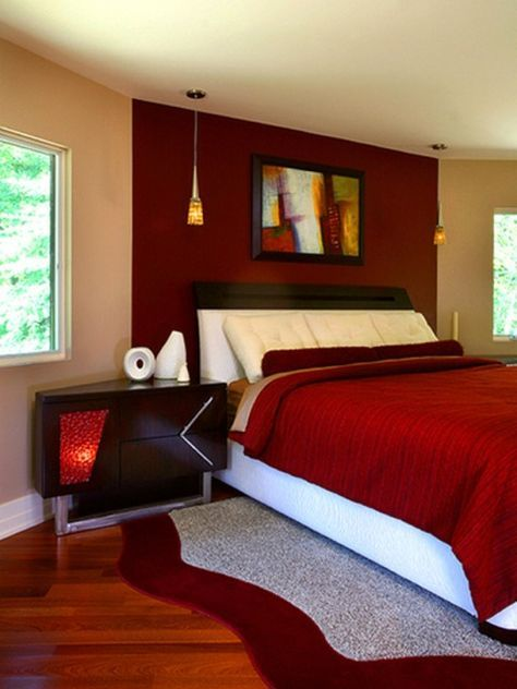 Romantic Red Bedroom Ideas: Modern And Romantic Bedrooms For New Couples
