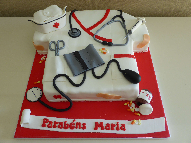Bolo para Finalista de Enfermagem My Cakes Cake Design -> Decoração Festa Enfermeiro
