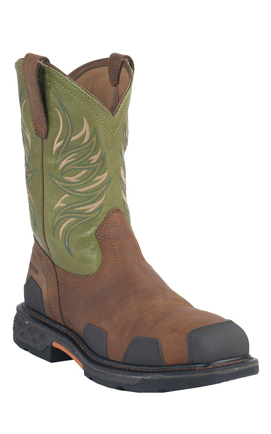 Ariat Overdrive Men S Toast Brown With Lime Square