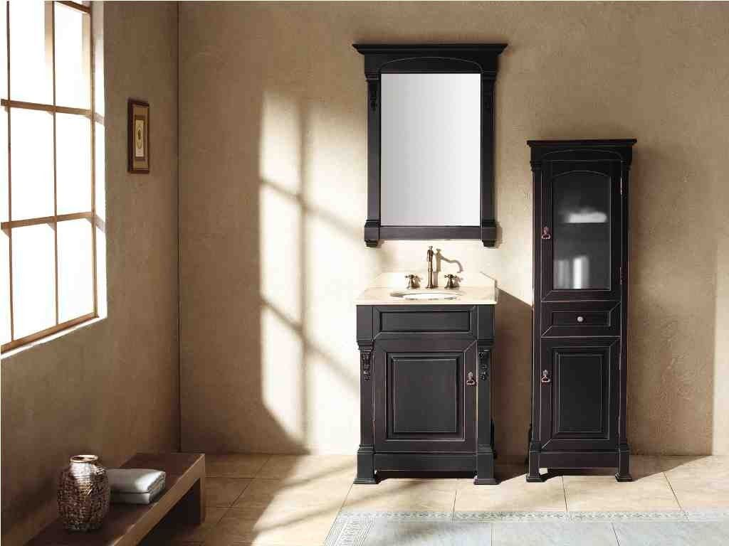 Black Linen Cabinets For Bathroom Small Bathroom Vanities Black Vanity Bathroom Bathroom Wall Decals