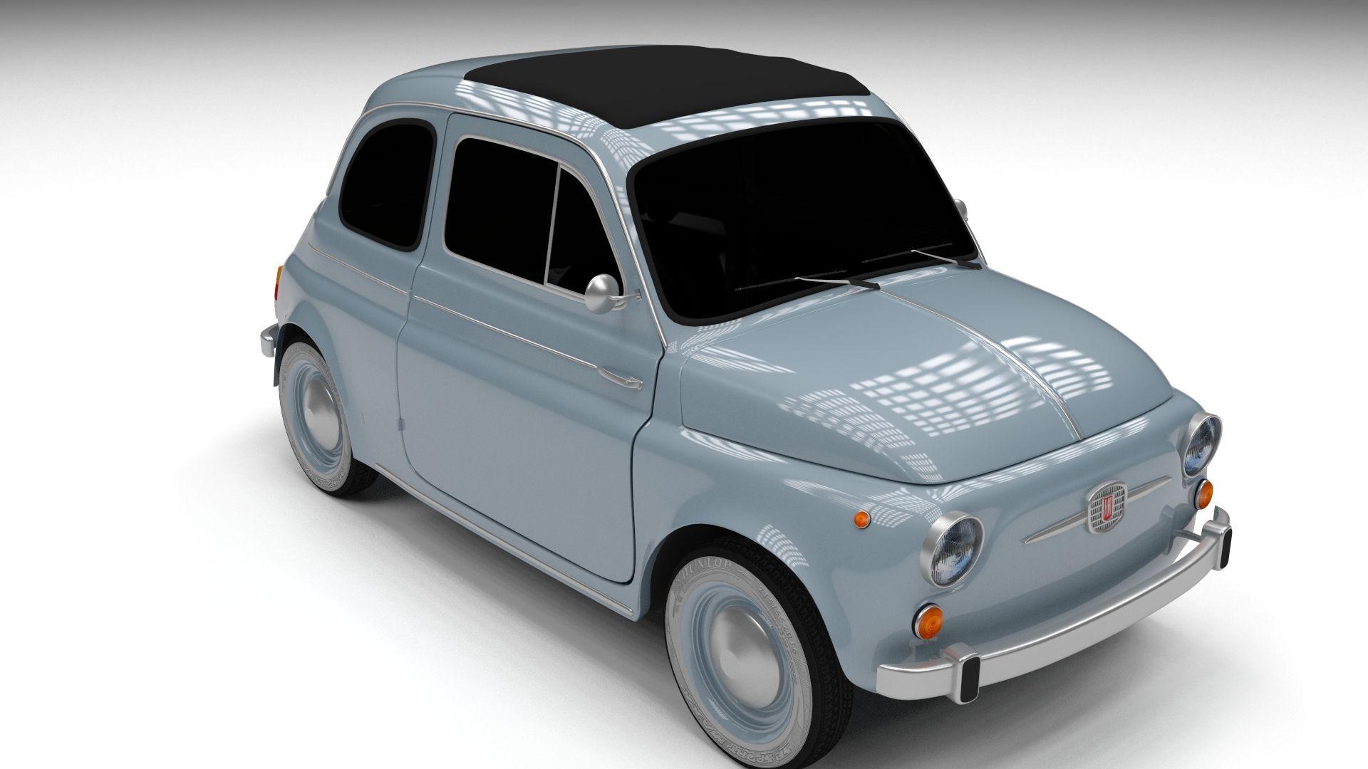 Fiat 500 Nuova 1957 Hdri 3d Model Fiat 500 Fiat 3d Model