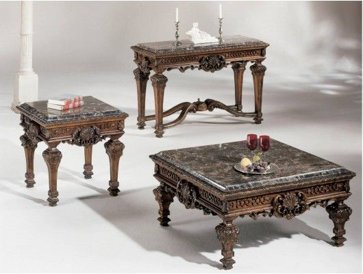 Ashley Casa Mollino Marble Top Table Set Sofa Tables For