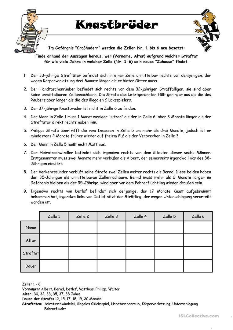 Bildergebnis für logicals 4. klasse zum ausdrucken | Deutsch ...
