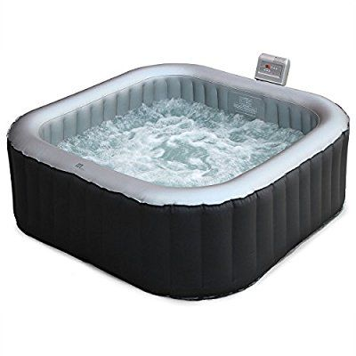Alice S Garden Spa Gonflable Carre Toronto Gris Jacuzzi 6 Personnes Carre 185cm Pvc Pompe Chauffage Gonfl Hot Tub Outdoor Hot Tub Inflatable Hot Tubs