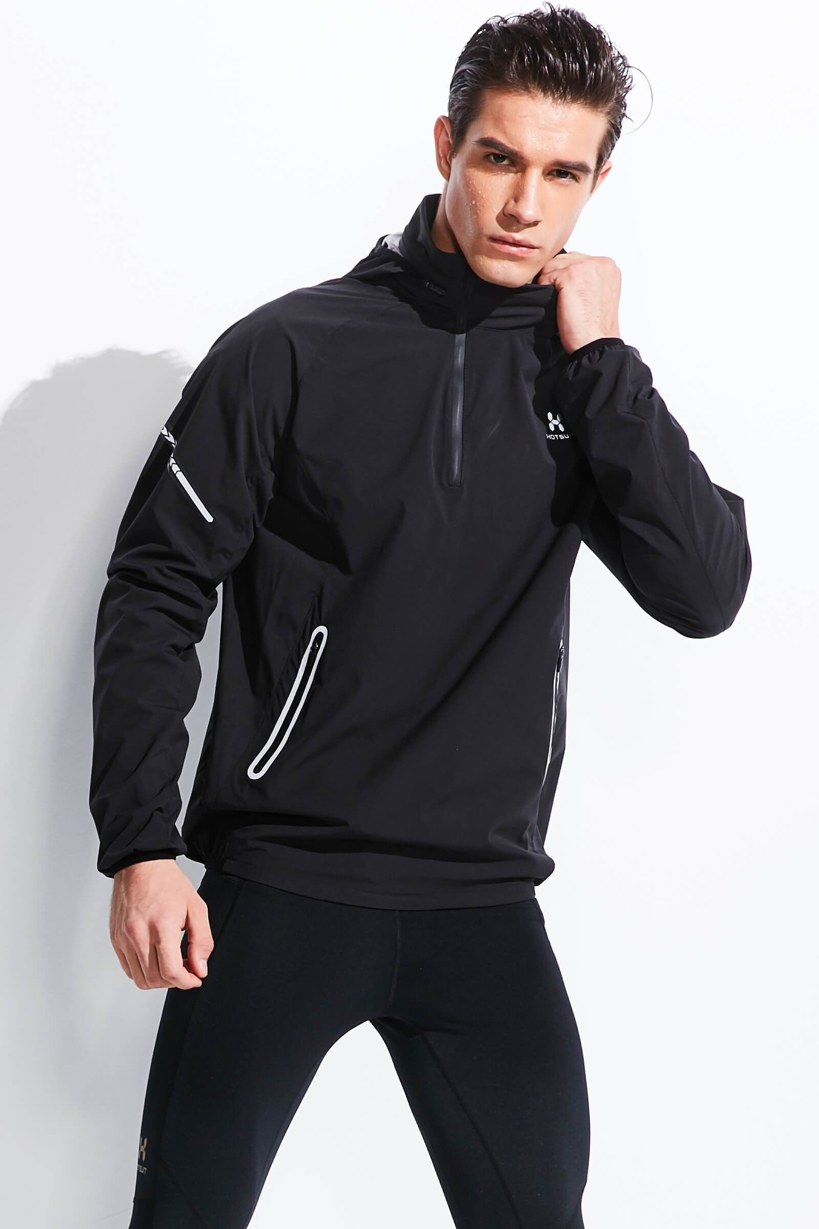 Hotsuit Men Half Zip Hoodie Sauna Jacket in 2020 Sauna
