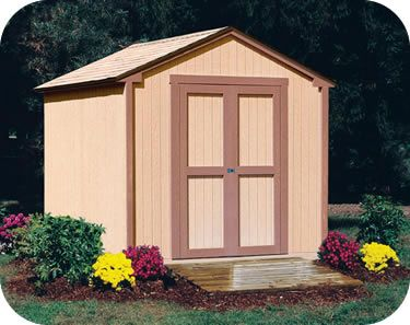 Handy Home Kingston 8x8 Wood Storage Shed Kit 18275 4 Storage Shed Kits Wood Shed Kits Wood Storage Sheds