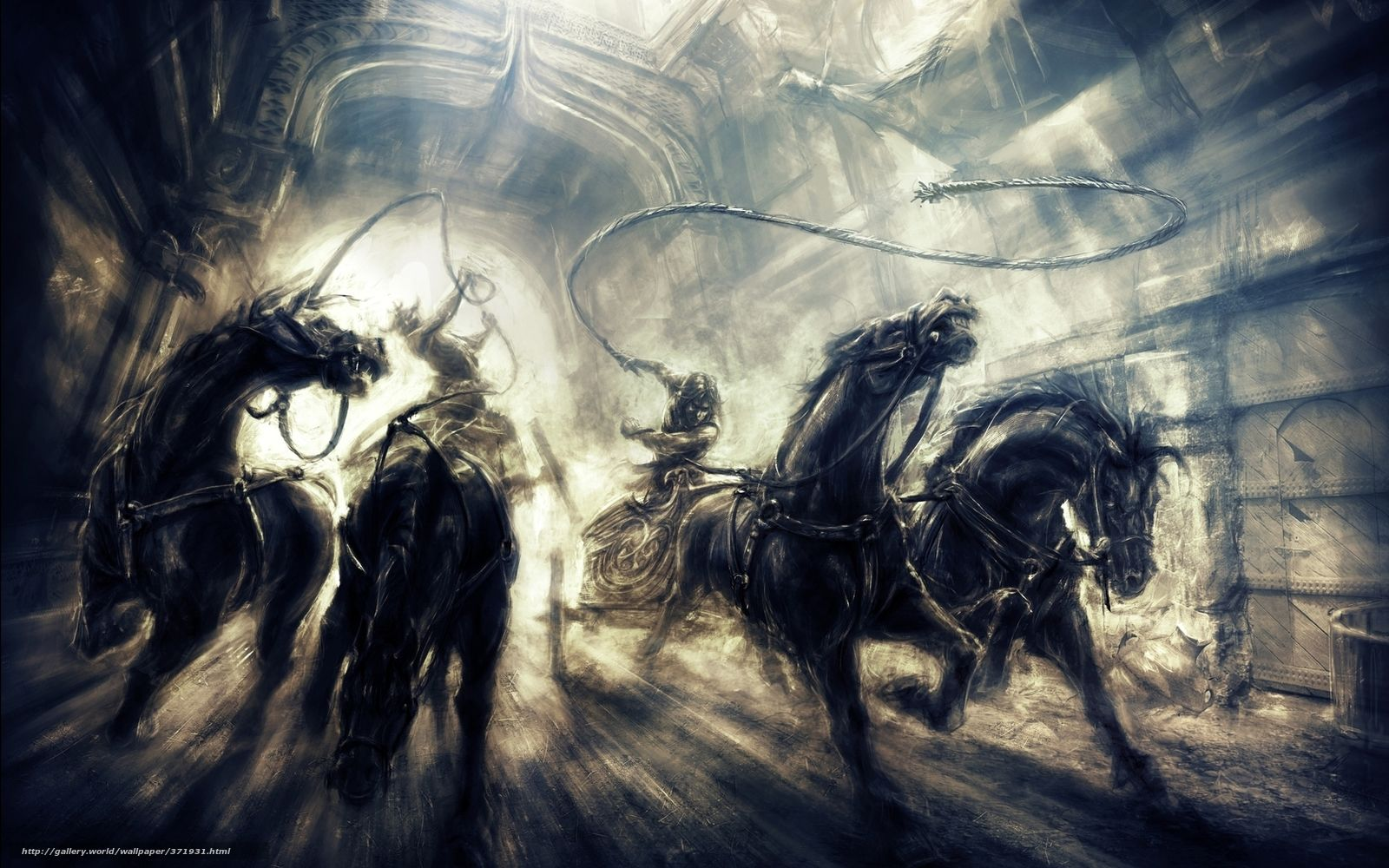 Download Wallpaper Prince Horse Chase Two Thrones Free Desktop Prince Of Persia Art Evil Art Fantasy Creatures Monsters