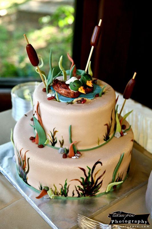 Grooms Cake  Tulsa Pix  Weddings  Cake Duck cake Cake decorating