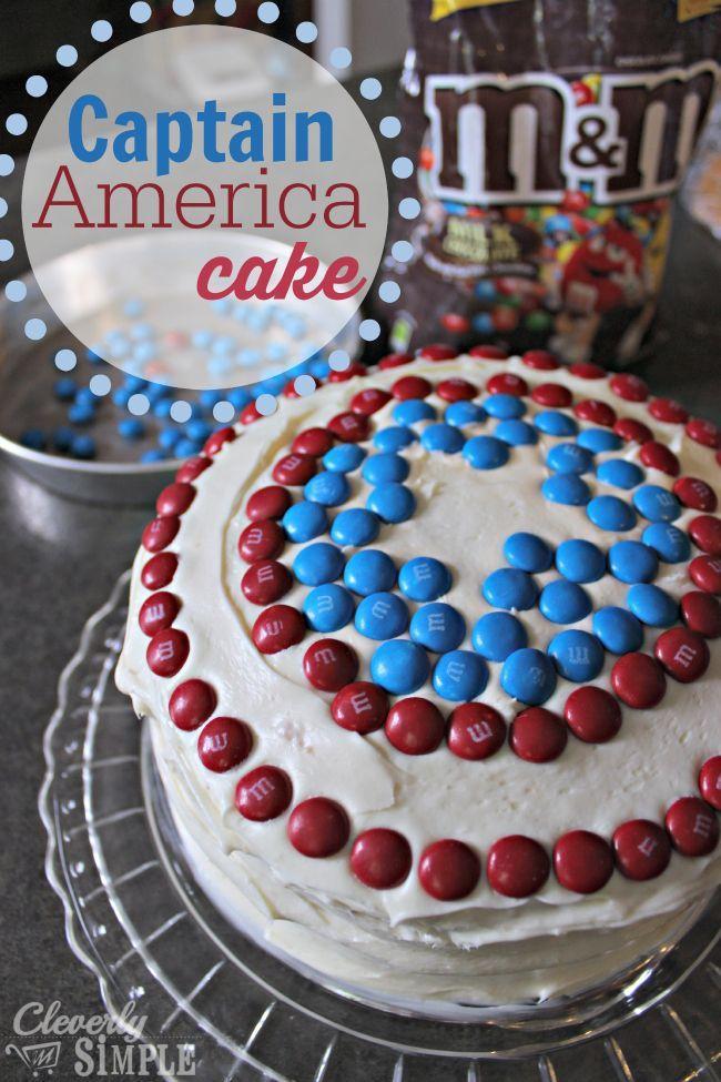 How To Make A SuperHero Cake With MMs Captain america cake Capt