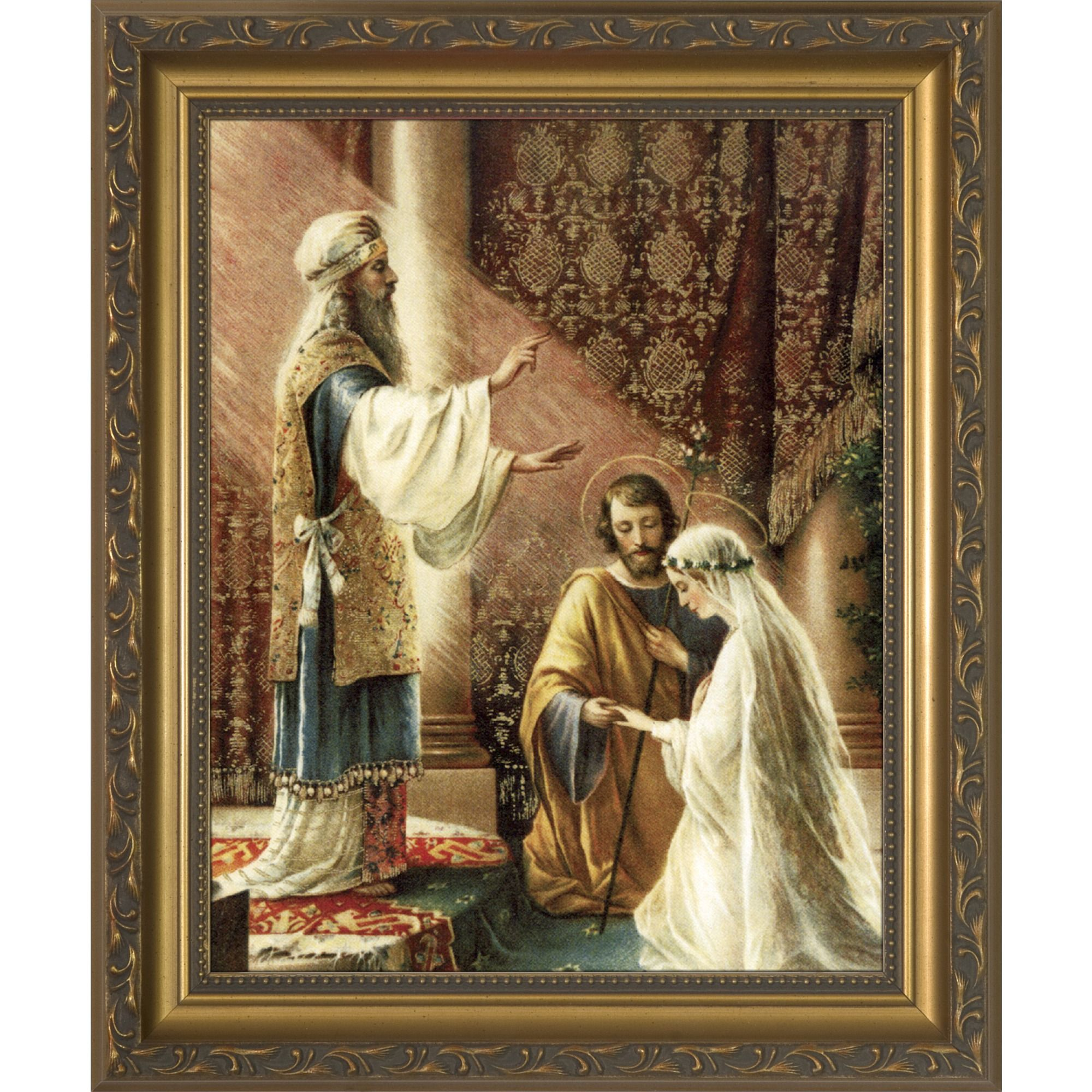 Wedding Vow Artwork: Wedding Of Joseph & Mary Framed Print