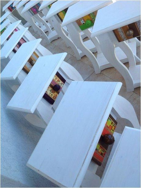 Mesitas de luz Madera con detalle de decoupage en cajón Variedad - mesitas de madera