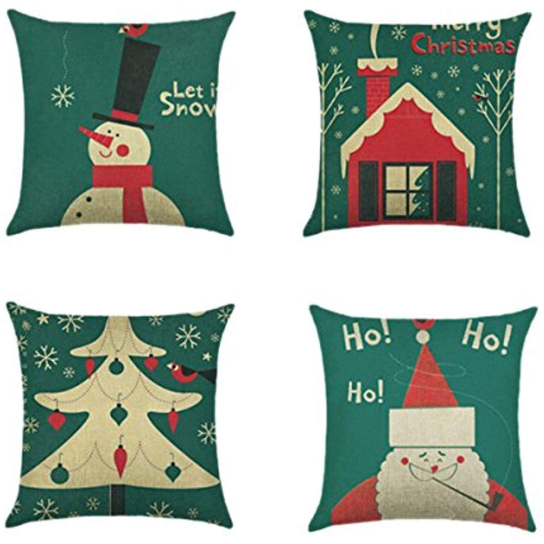 Hoomall package of or christmas sonwflake cartoon sofa cushion