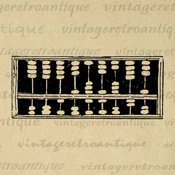Vintage Abacus Antique Math Calculator Printable Graphic Image ...