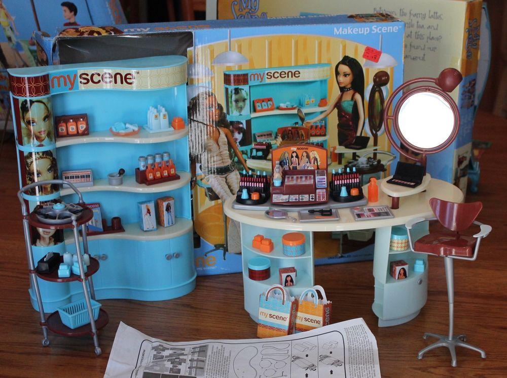 my scene barbie makeup scene playset euc in original box cafeplayset