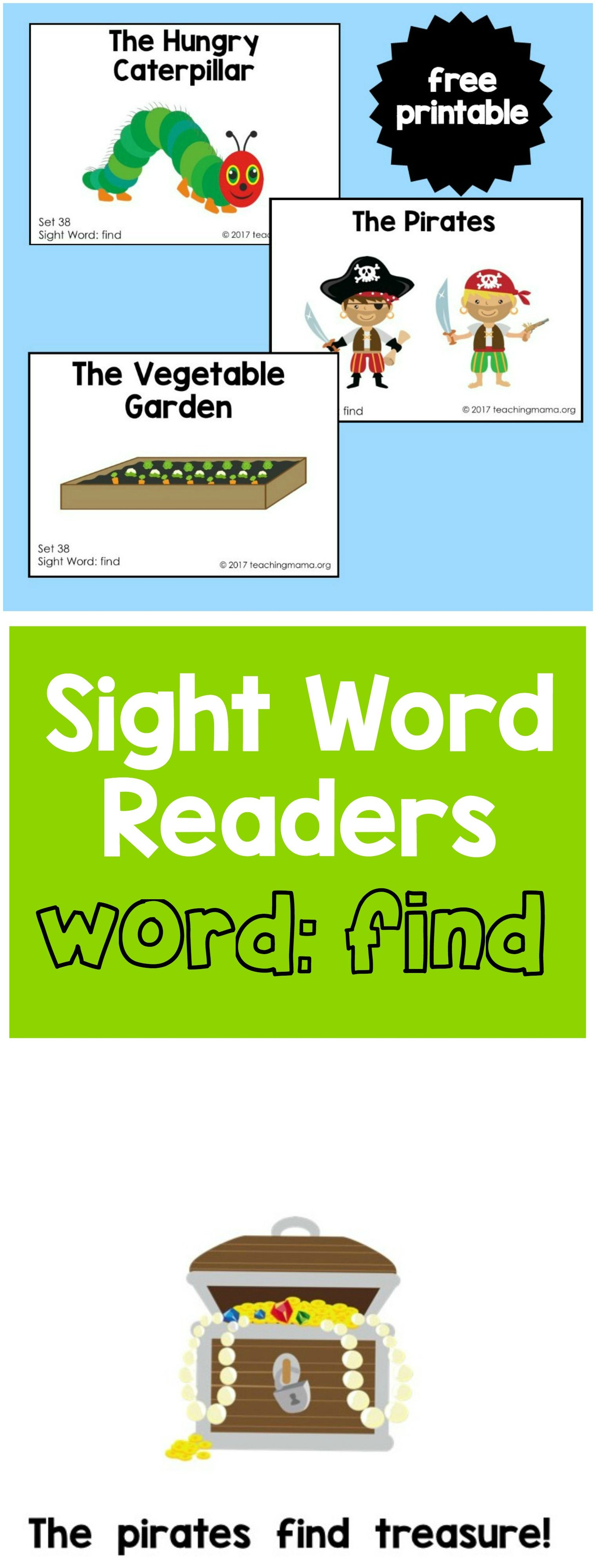 Sight Word Readers For The Word Find