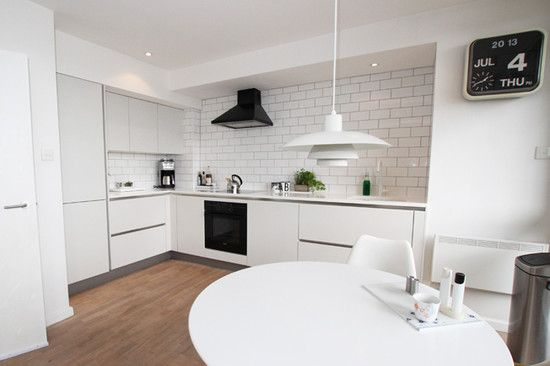 White Kitchen Extractor Hood kitchen design, contemporary l shaped kitchen design with nobby