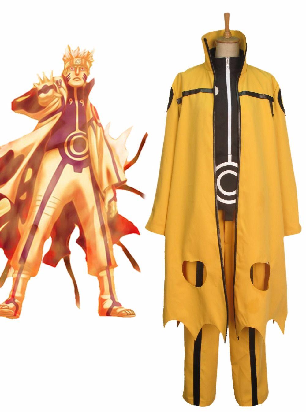 Click to Buy << Naruto Uzumaki Naruto Nine-Tails Chakra Mode Cosplay. >>