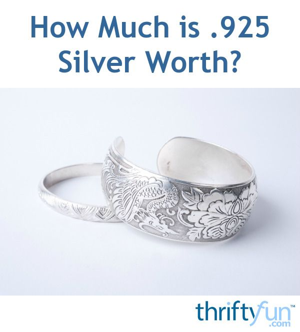 How Much Is 925 Silver Worth With