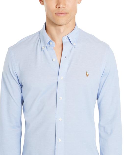 Polo Ralph Lauren Slim Fit Knit Oxford Shirt | Oxford shirt, Mens ...