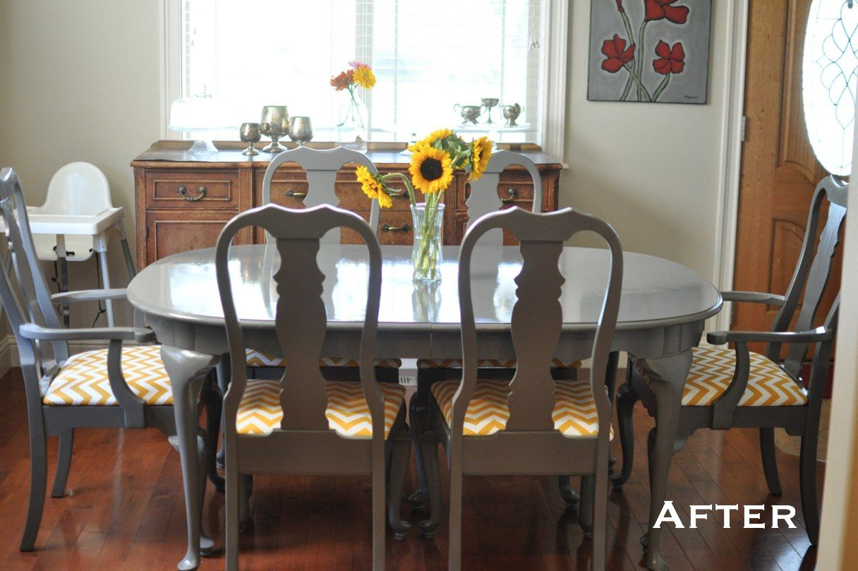 Modern Queen Anne Table Dining Table Makeover Traditional