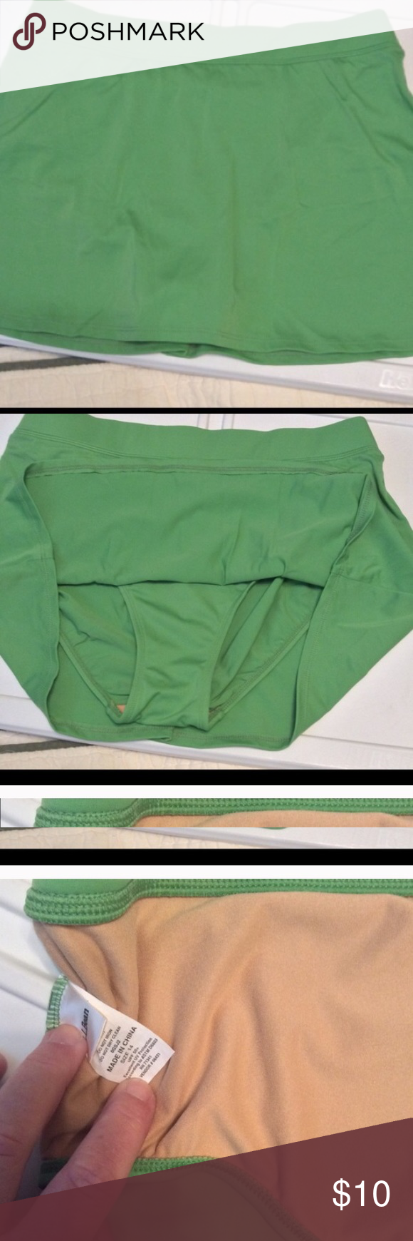 Never worn Lands End swim skirt☘️ Never worn- light green swim skirt, lands end, size 14- purchased on posh- fits tighter than expected- perfect condition and well made! Lands' End Swim