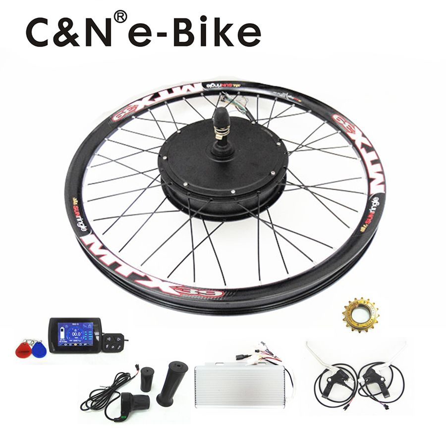 4cda2b96952 super speed 100km/h 3000w powerful electric bike kit / hub motor conversion  kit with TFT disply