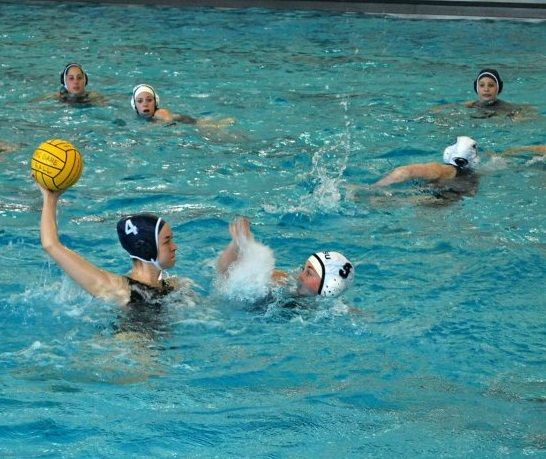 Christine Winiarz Schmidt Winds Up To Take A Shot During The Penn Womens Club Water Polo Match At Carnegie Mellon University Polo Match Water Polo Take A Shot