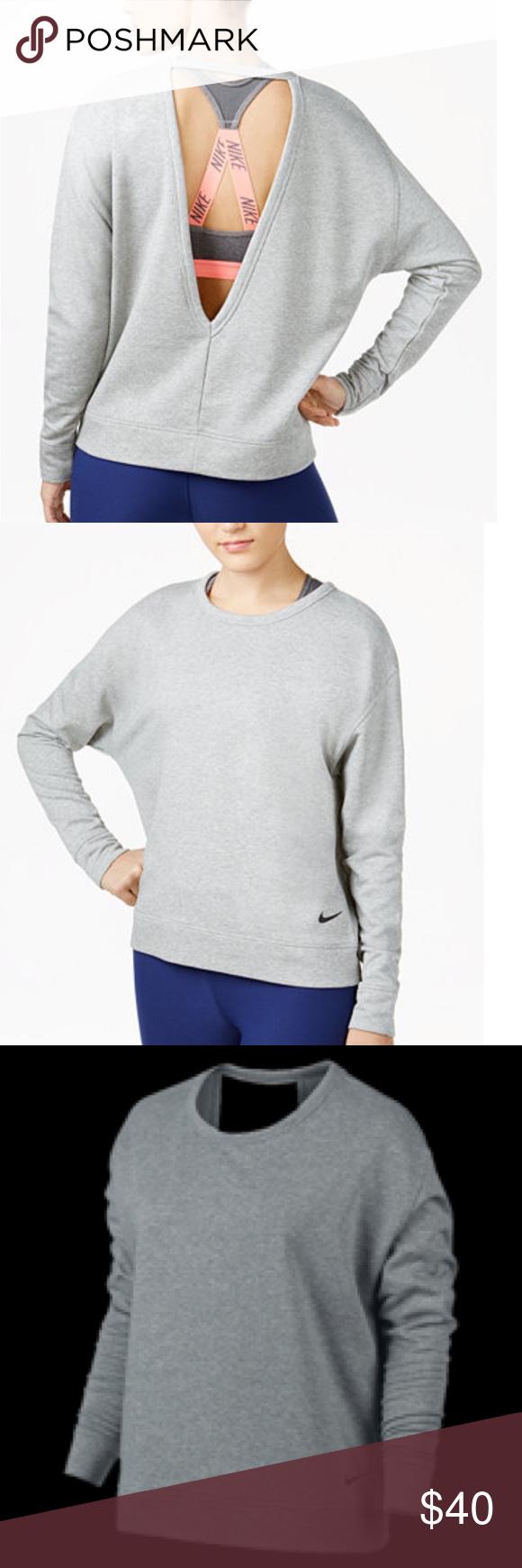 Nike Women S Dry Top Versa Open Back Sweater Fabric 100 Polyester Fit Loose Dri Fit Fabric Wicks Sweat Away To Keep You Feeli Training Tops Tops Womens Tops [ 1740 x 580 Pixel ]