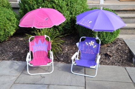 Toddler Beach Chair Personalized Graco Swing Vibrating Child S Lawn With Name Graphic 38 00 Via Etsy