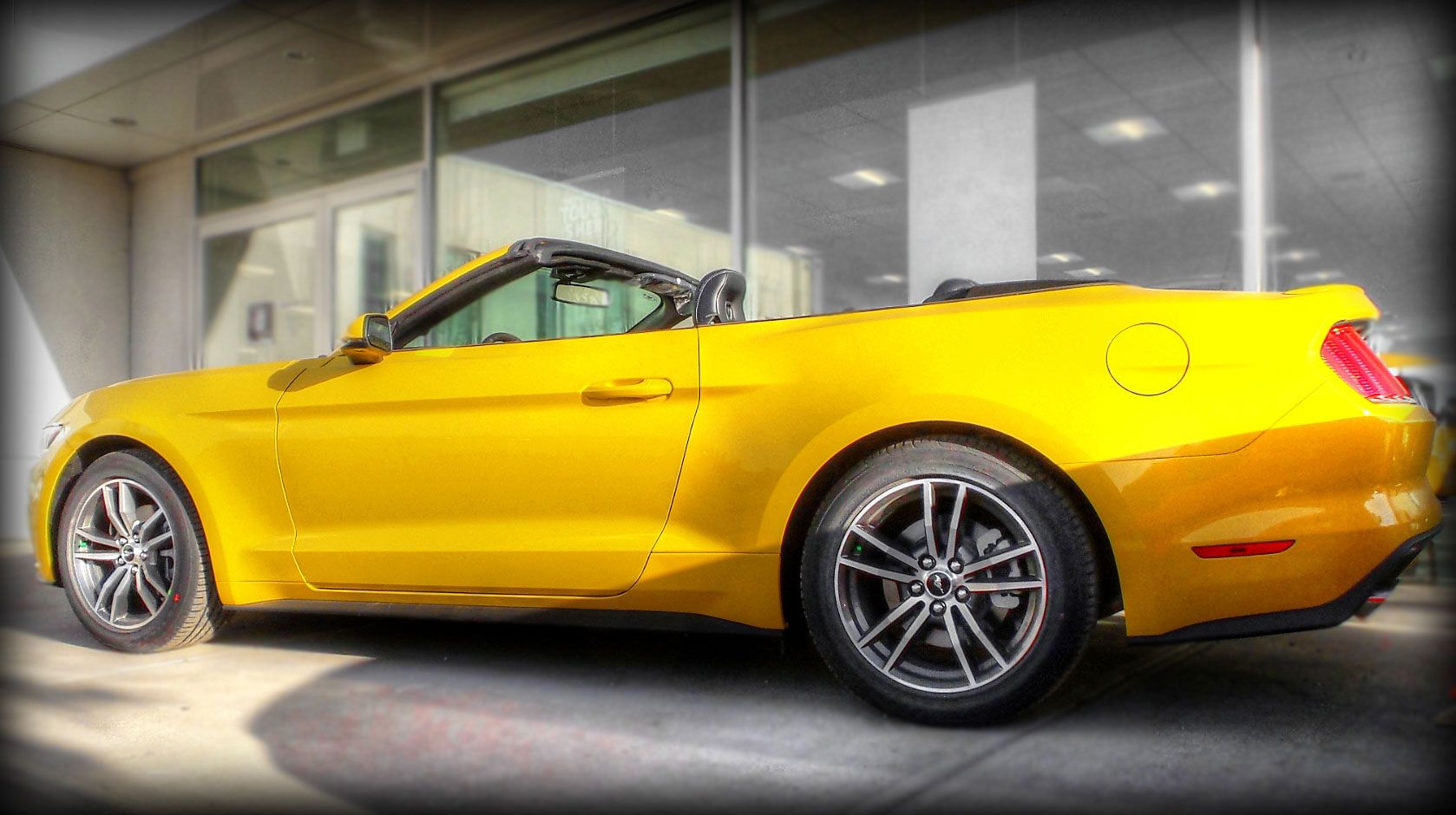 2015 ford mustang ecoboost premium convertible in triple yellow
