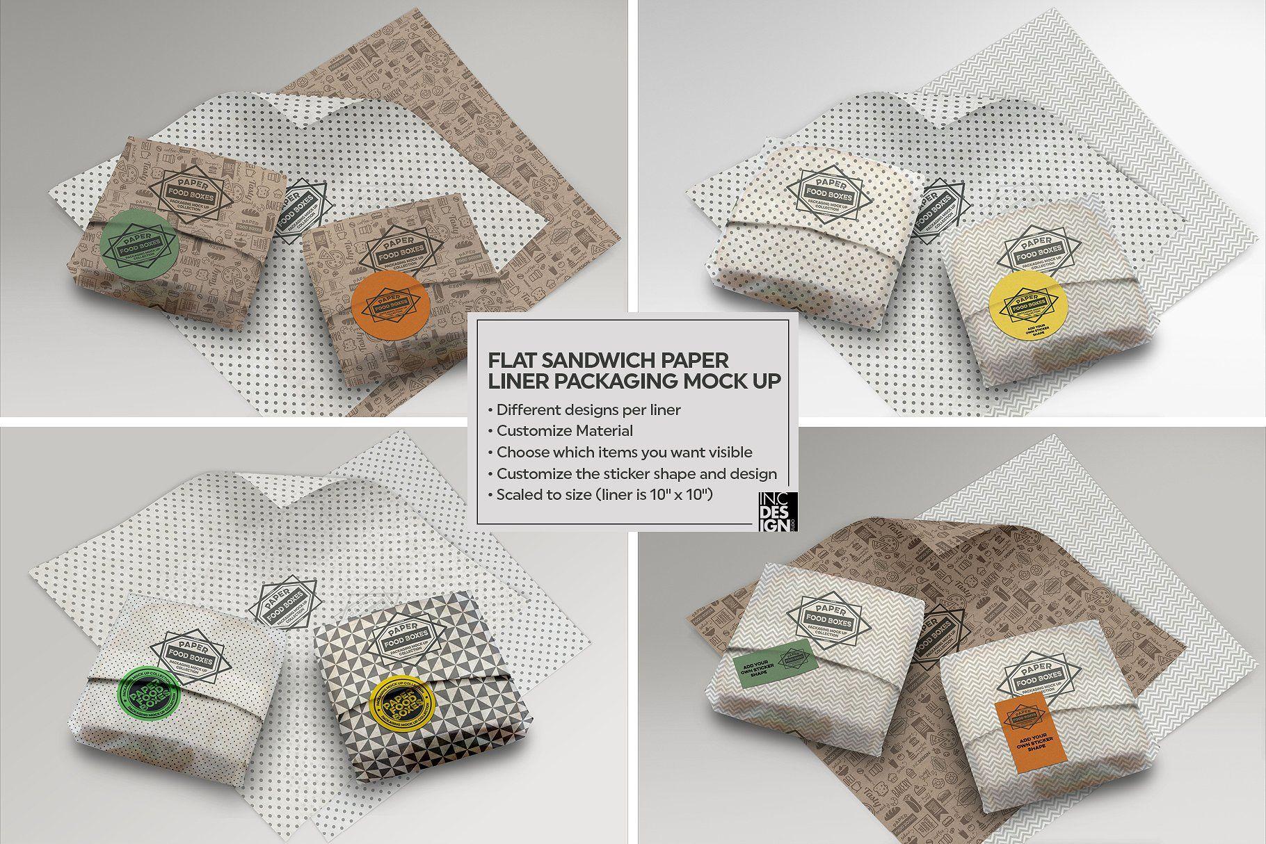 Download Vol 10 Food Box Packaging Mockups Paper Liner Free Packaging Mockup Packaging Mockup