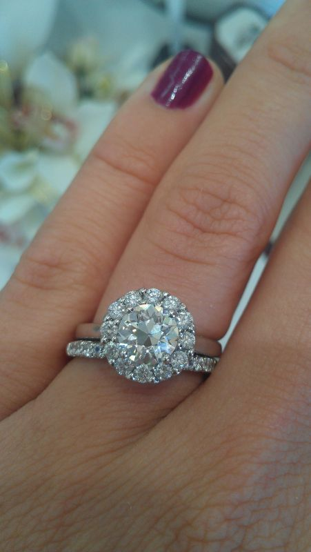 show me your oec moissanites weddingbee beautiful unique engagement rings rings