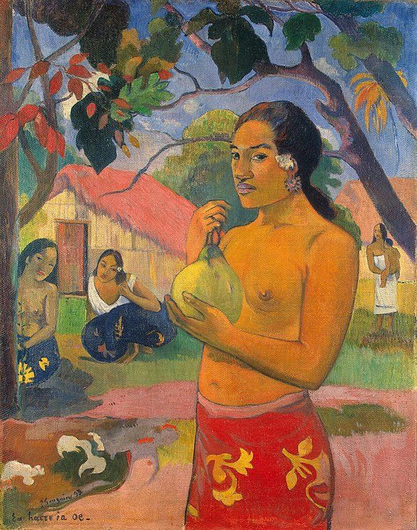 Woman Holding a Fruit; Where Are You Going ?