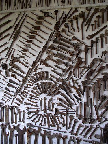 Wall of Tools Car part furniture, Old tools, Wallpaper