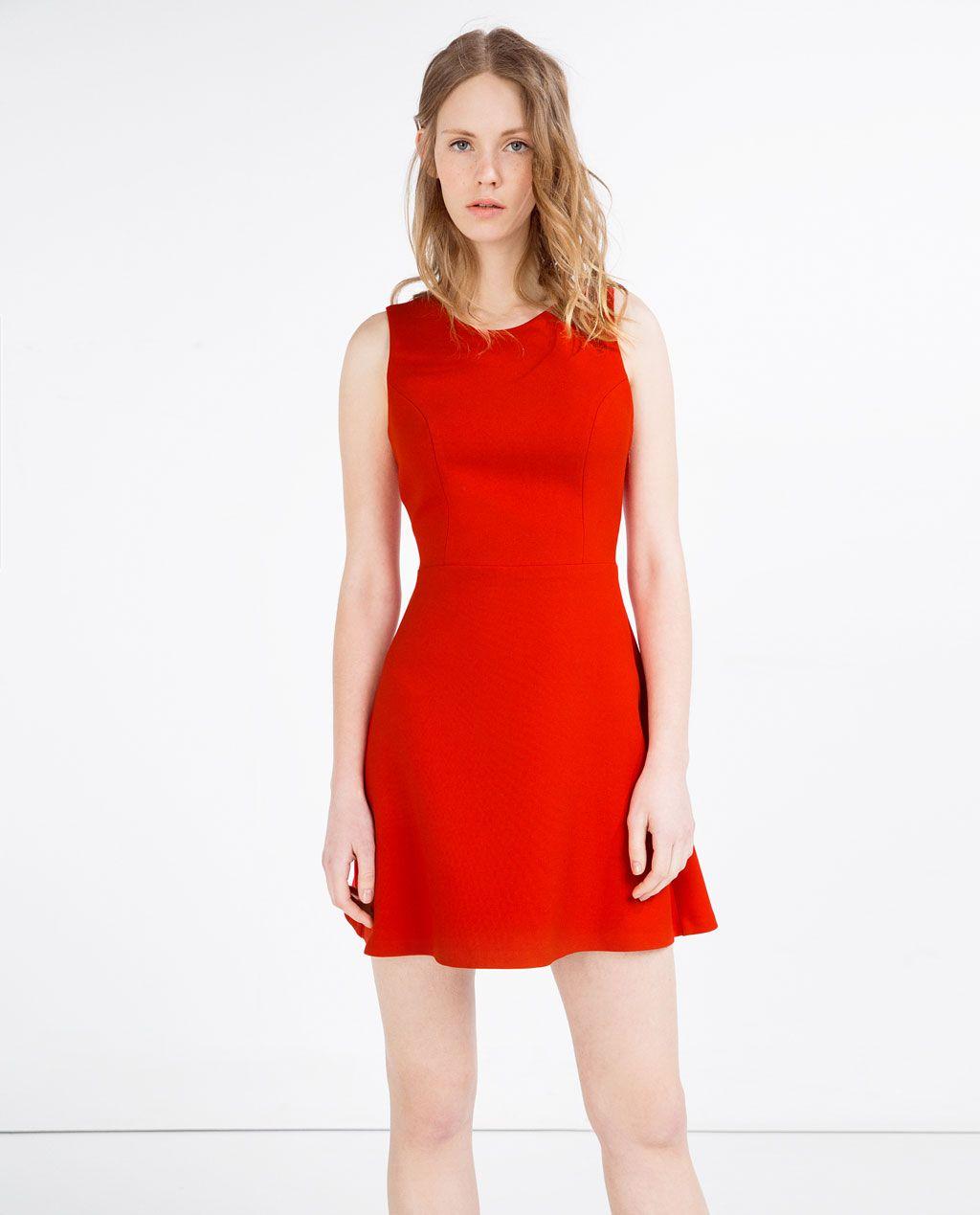 Dress with crossover backminidresseswoman zara united states
