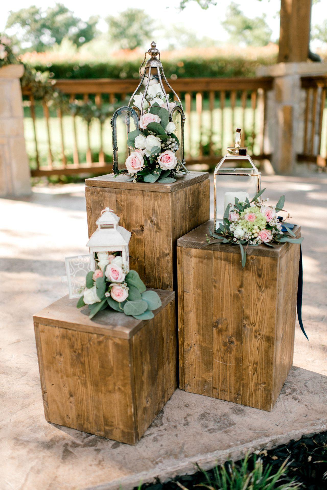 outdoor wedding ceremony modern rustic wedding decor | blush
