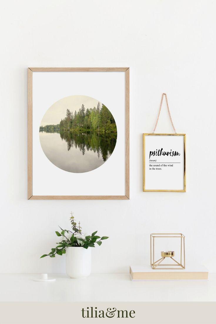 Scandinavian Woodland Forest Print Gift For Her, Botanical
