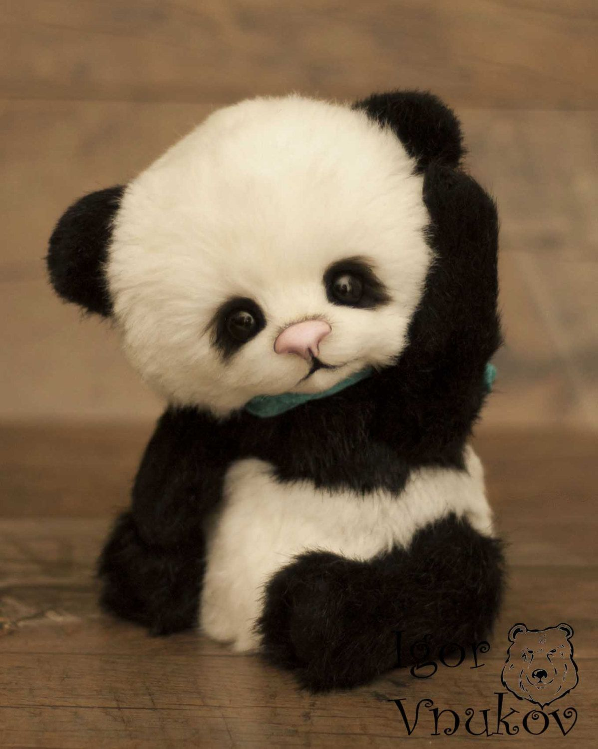 Panda Luigi Is Possible Repeat To Order Teddy Bear Stuffed Animal Bear Soft Toys Artist Teddy Bear Bear Stuffed Animal Teddy Bear Stuffed Animal Cute Animals