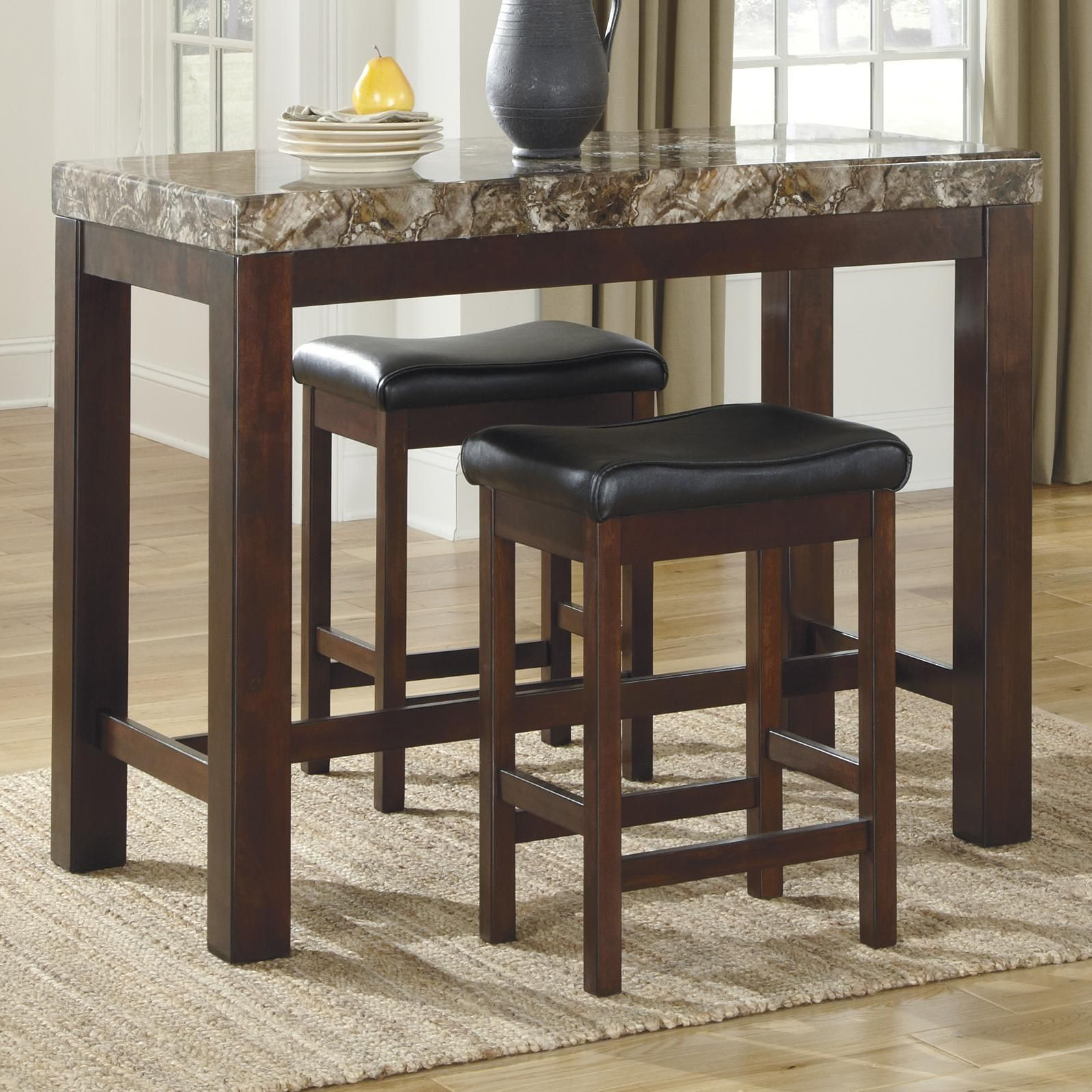 Best Ashley Signature Design Kraleene 3 Piece Counter Table Set 400 x 300