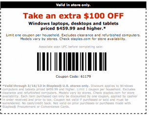 Staples Coupons 100 Off Printable Coupons Coupons Staples