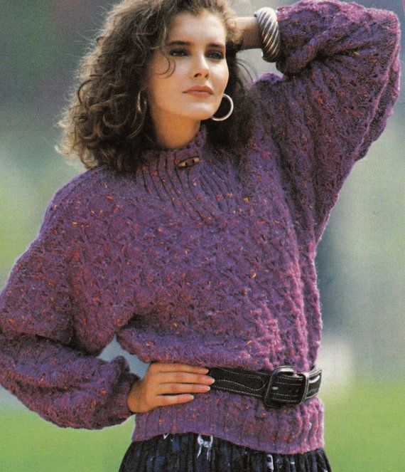Vintage Knitting Pattern Instructions to Make a Ladies Batwing ...