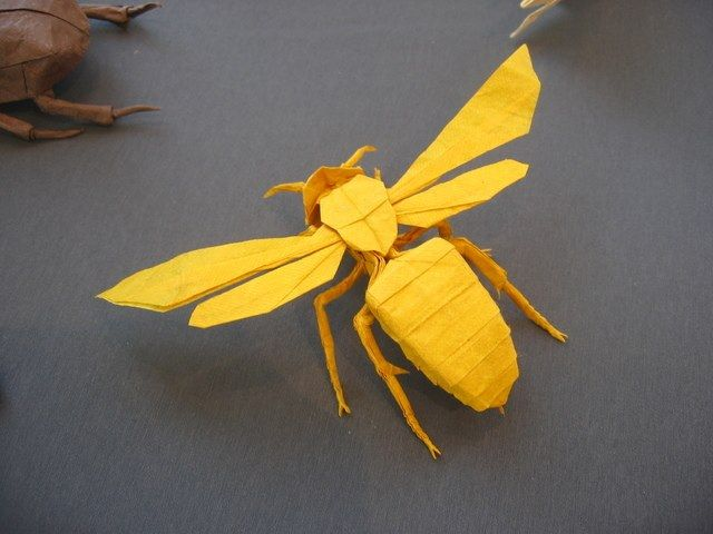 How to Make an Origami Bee Step by Step Instructions | Free ... | 480x640
