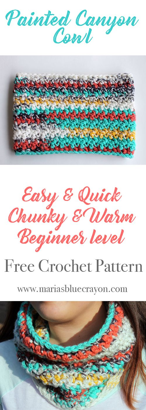 Painted Canyon Cowl Crochet Pattern | Pinterest | Tejido