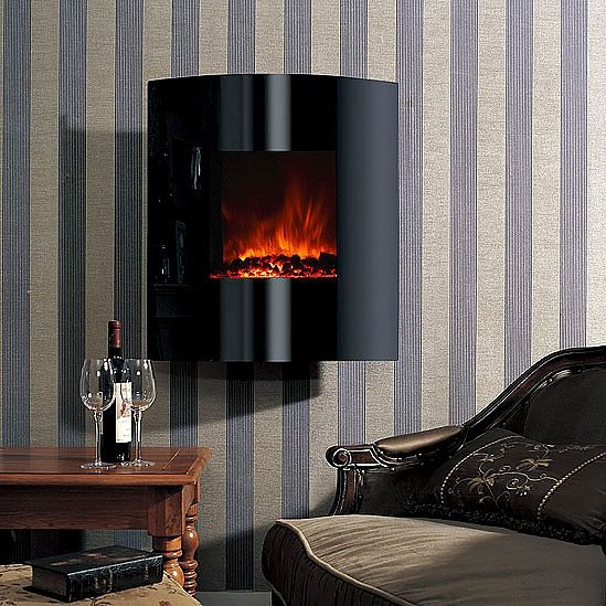 Modern Flames Helix 26 Convex Wall Mount Electric Fireplace Wall Mount Electric Fireplace Fireplace Electric Fireplace