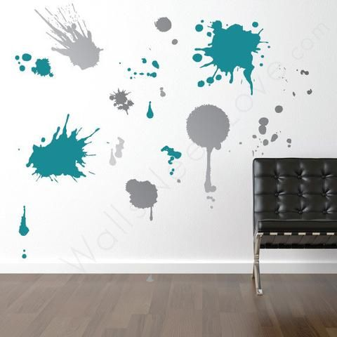 wall decals for craft rooms ink splatz wall decals wall decals dorm room and dorm