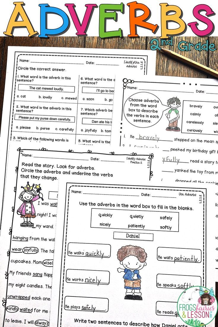 This product consists of practice worksheets that target the Common Core  standards for Adjectives and Adverbs …   Adverb activities [ 1103 x 735 Pixel ]