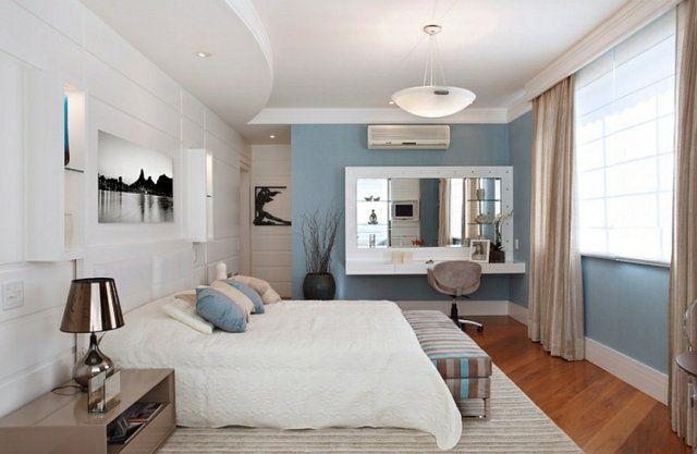 Déco intérieur - blanc et bleu, combinaison classique | Chambres ...