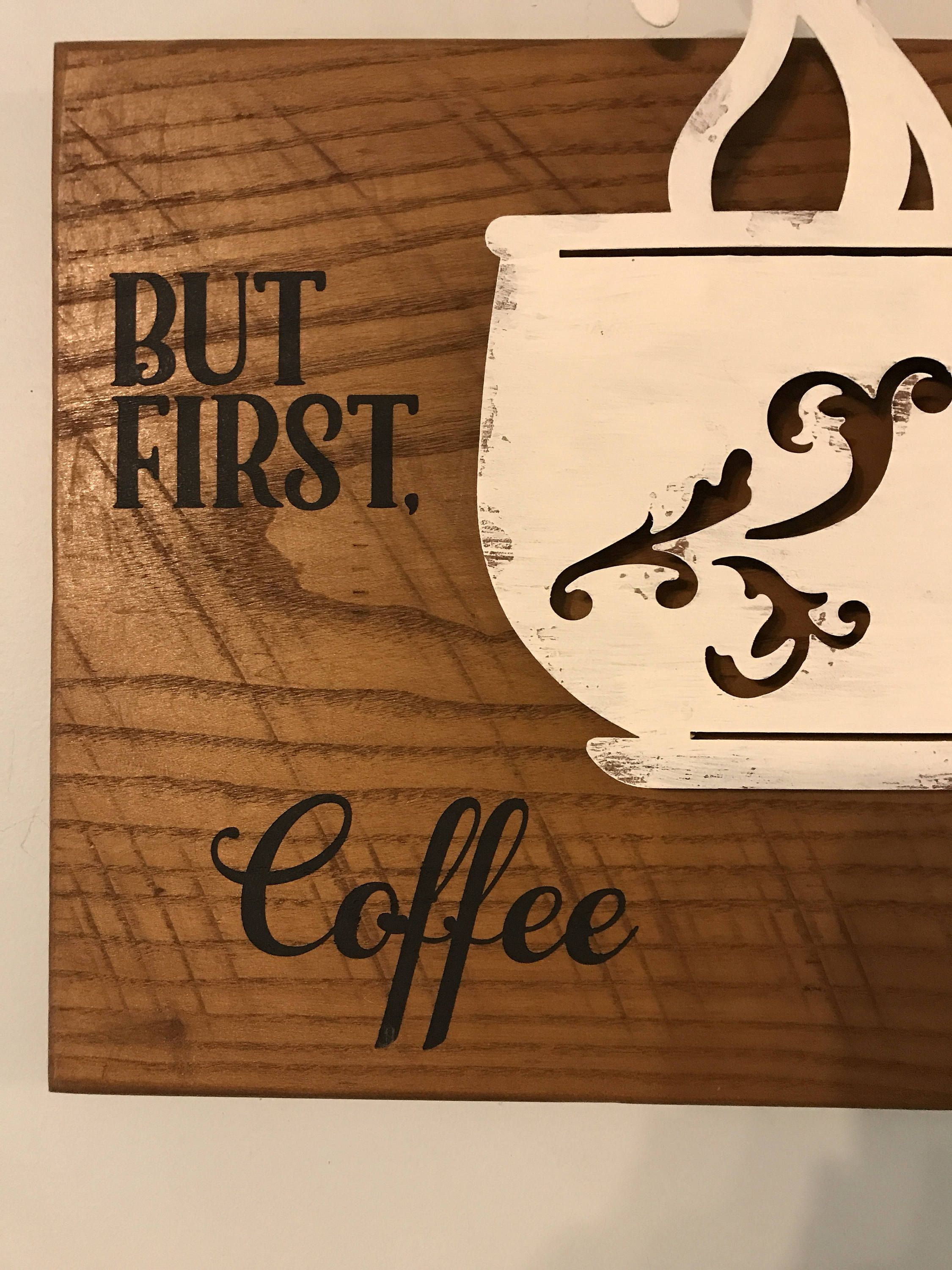 Wooden Decor Signs Coffee Sign Rustic Wall Decor Wooden Coffee Sign Wooden Coffee